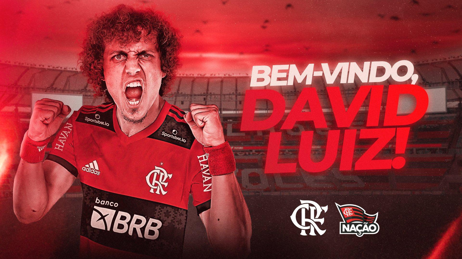 Flamengo oficializa a contratação de David Luiz