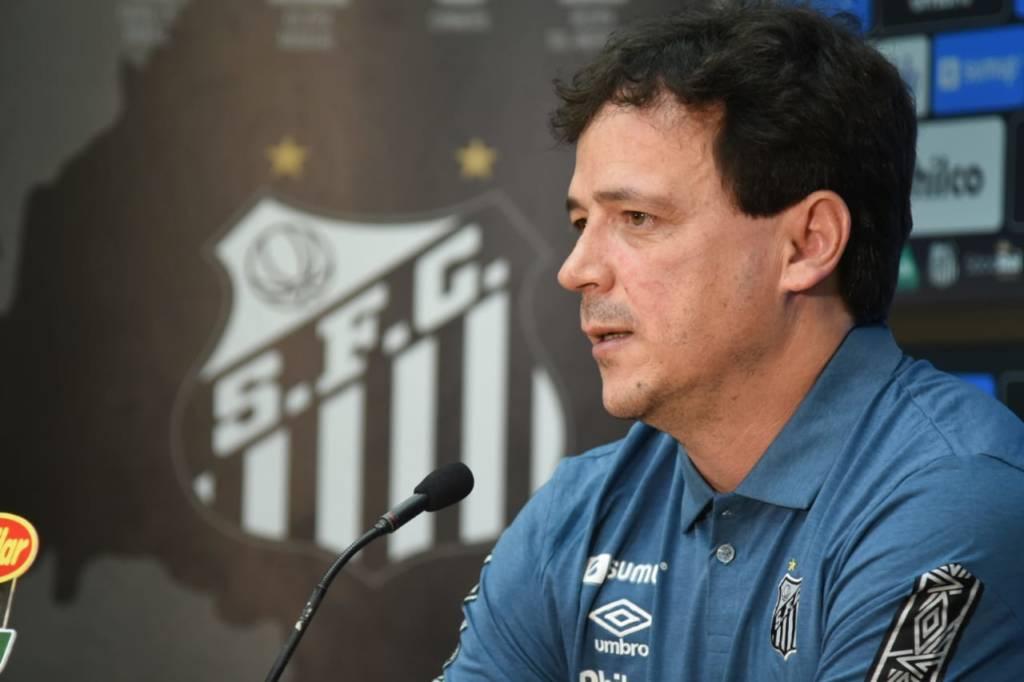 O Santos decidiu demitir o técnico Fernando Diniz após a sequência de seis jogos sem vitória. Após 27 jogos, o treinador deixa a Vila Belmiro com 10 vitórias, sete empates e 10 derrotas - um aproveitamento de 45,6%. (Foto: Ivan Storti/Santos FC)