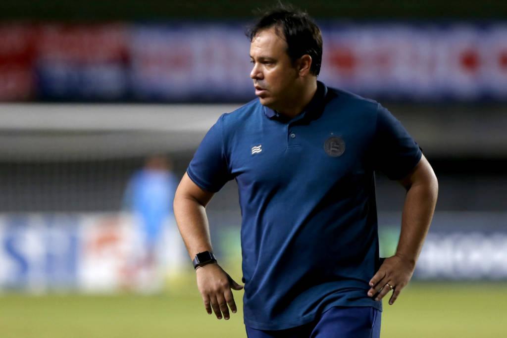 Após derrota para o Atlético-GO em casa, o Bahia anunciou a demissão do técnico Dado Cavalcanti. (Foto: Divulgação/Felipe Oliveira)