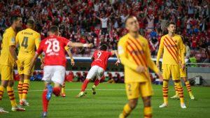 Benfica amplia crise do Barcelona com uma vitória contundente na Luz