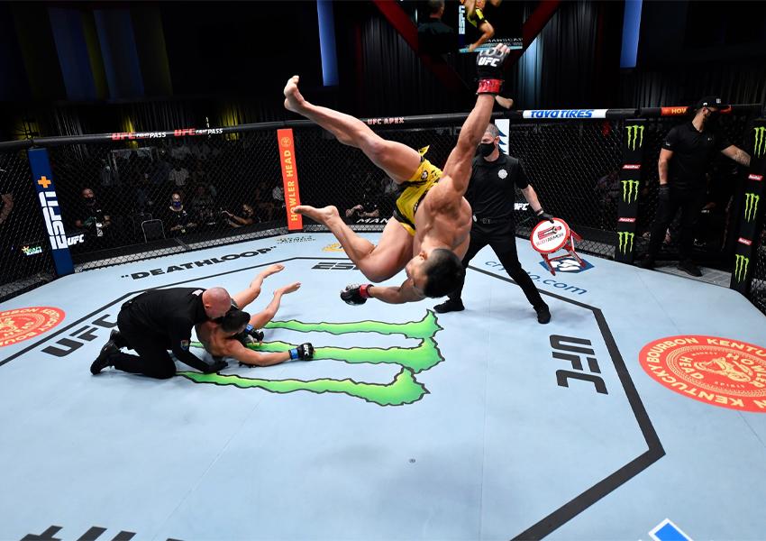 Douglas D'Silva fatura bônus de performance da noite por nocaute no UFC Vegas 38