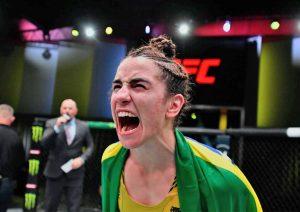 """Norma Dumont quer disputar cinturão interino dos penas contra Holly Holm: """"Não quero a divisão estagnada"""" - MMA Brasil"""