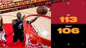 The Playoffs - Miami Heat domina mesmo jogando fora de casa e vence o Houston Rockets