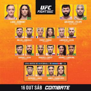 UFC Vegas 40: Ladd vs. Dumont - Resultados - MMA Brasil